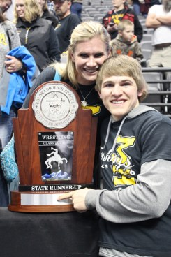 Molly Turner celebrated her birthday with her son Sheridan's state championship. Bobby Gutierrez photo