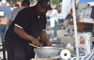 Elk Creek Ranch chef Scott Creecy was one of five competitors at the Jammin' Lamb event. Caitlin Walker