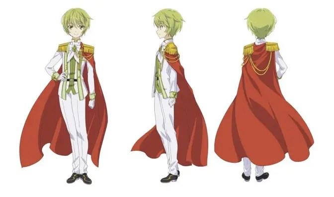 Solomon character design from front and back
