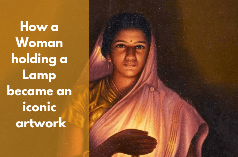 woman-lamp-diwali