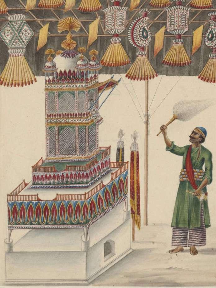 Muharram ritual taziya paintings india