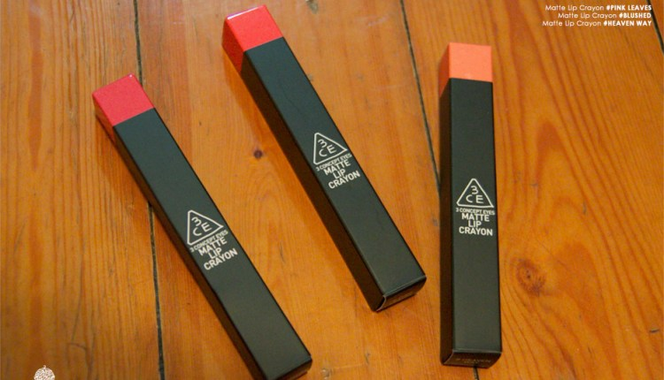 Review: 3CE Lip Crayons
