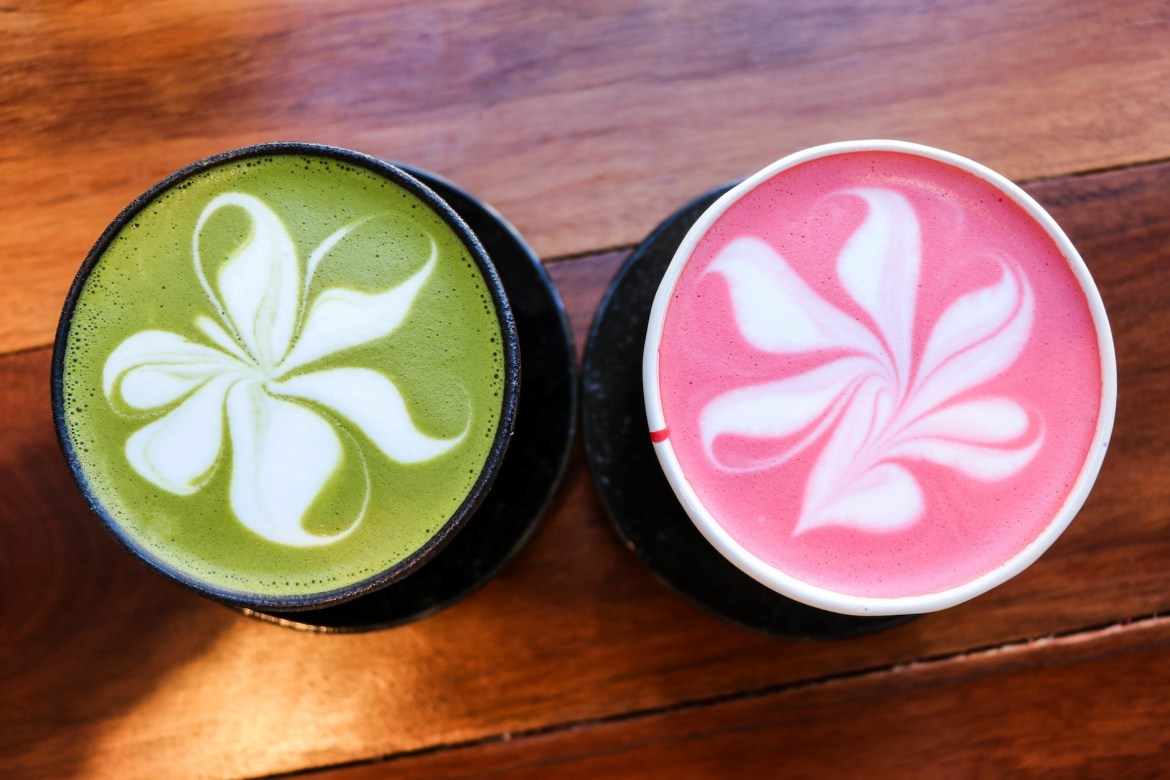 Cuppa Flower - Red Velvet Latte and Matcha Latte