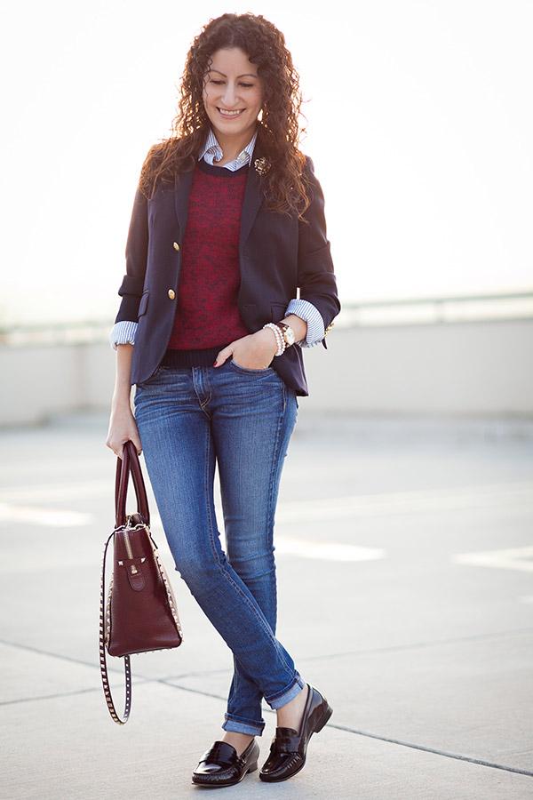 how to wear women's loafers office friendly style