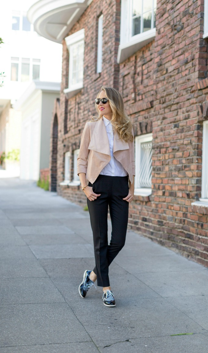 Outfits with flats Oxfords at work