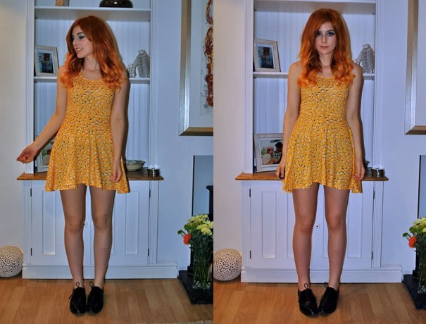 Outfits with flats Sleeveless dress and brogues on a night out