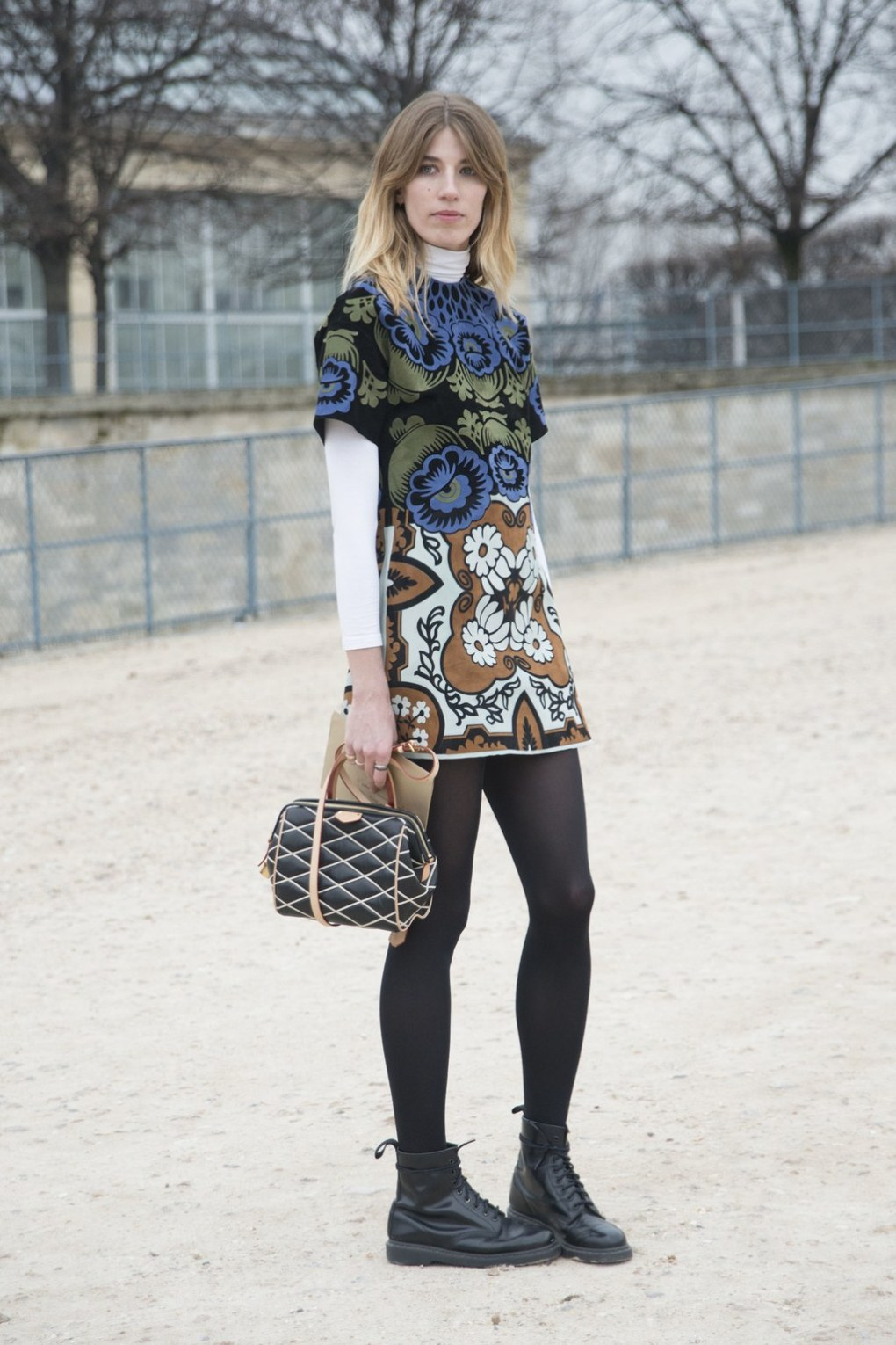 outfits with flats turtleneck dress