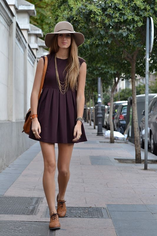 How to wear oxford shoes with dresses brown dress