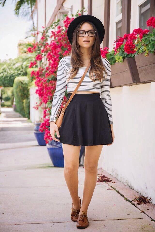 How to Wear Oxford Shoes with skirt