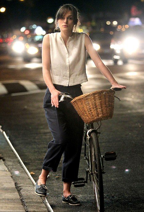 outfits with boat shoes Keira Knightley