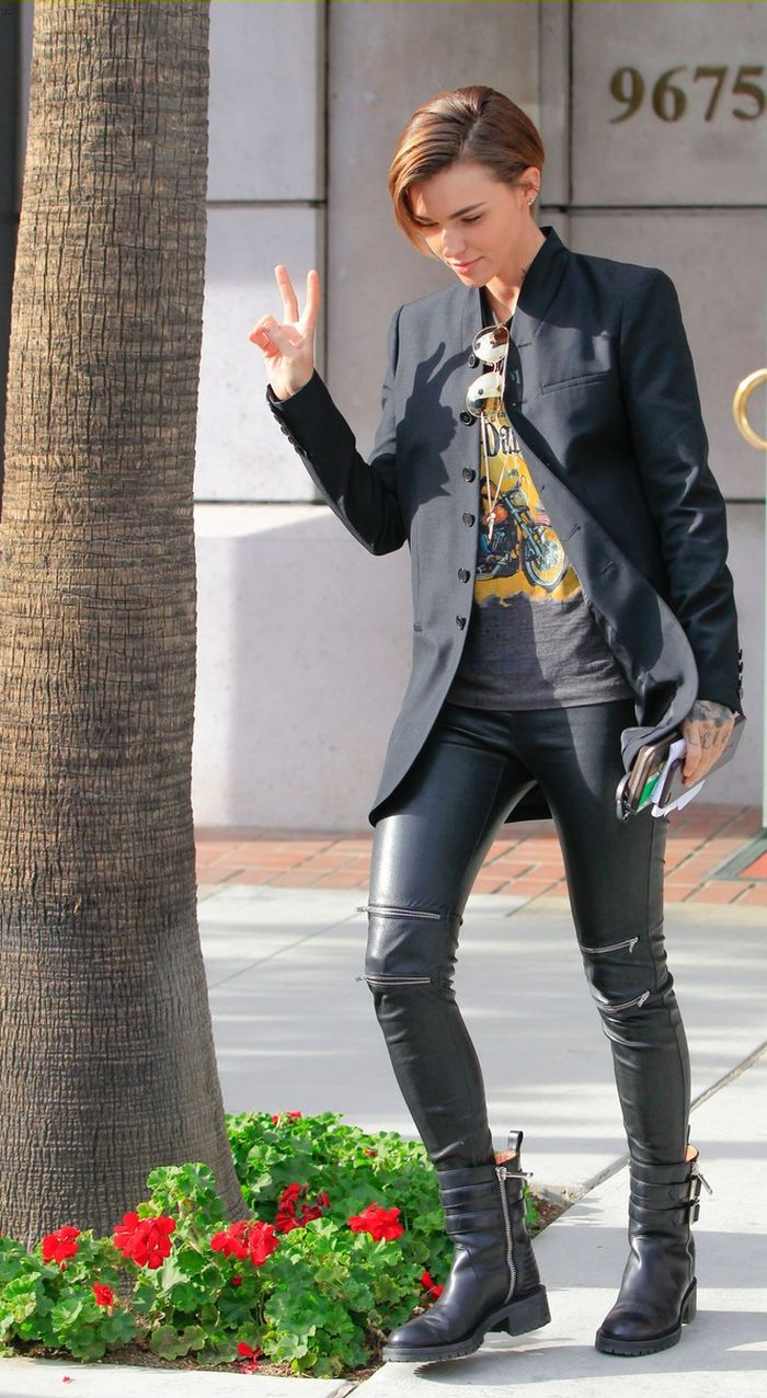 Ruby Rose black leggings