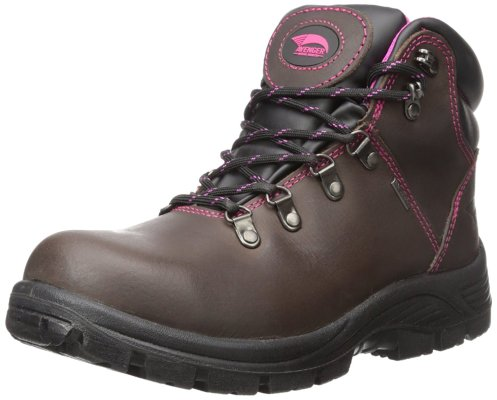 Avenger Women's 7125 Leather Waterproof EH Slip Resistant Steel Toe Work Boot