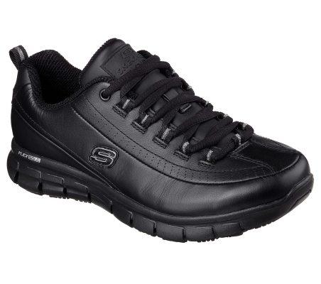 Skechers for Work Women's Sure Track Trickel Slip Resistant Shoe best non slip work shoes