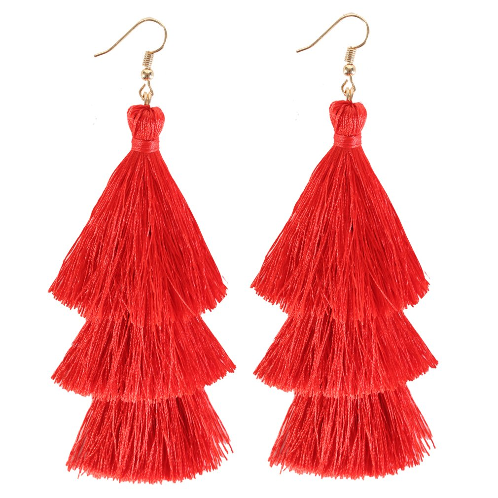 ELEARD Tassel Earrings Tiered Thread