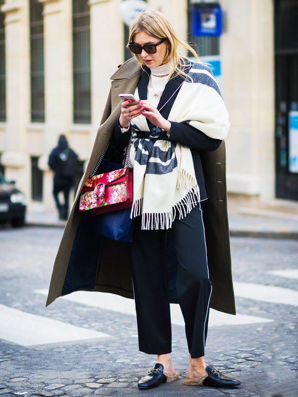 cozy scarf coat