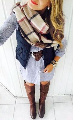 Dress and blanket scarf