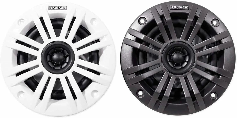 KICKER KM4 4-Inch Marine Coaxial Speakers