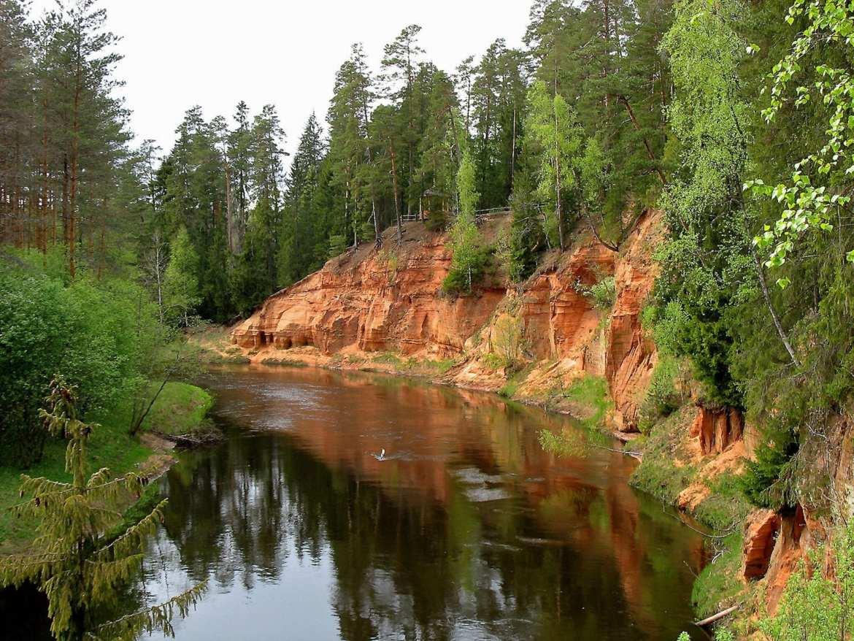 hikes in Letland rivier