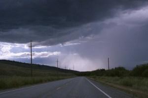 Highway 20 rain storm