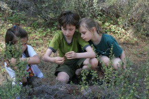 kids in nature, camping with children, fantasy play