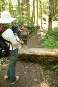 Hiking with children, Boardman Lake Trail, Mountain Loop Highway Trails, kids in nature