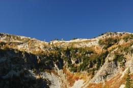 maple pass, lake ann, fall colors