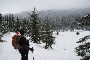 snowshoeing washington with children, winter hikes, gold creek Pond