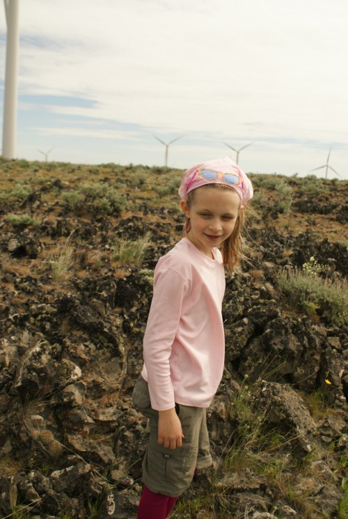 kids in nature, wild horse wind farm