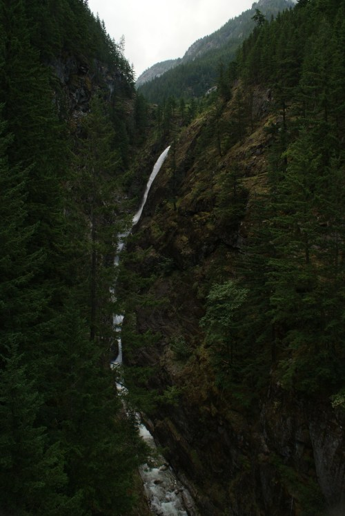 highway 20, waterfall, north cascades