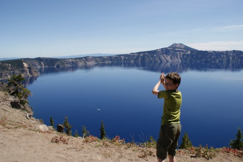 crater lake, oregon, camping with kids