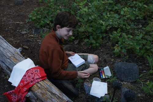 Ingalls Creek Trail, backpacking with kids, art in nature