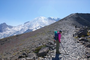 burroughs mountain, hiking mount rainier, hiking with children