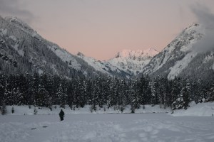 Snowshoeing gold creek pond, winter hikes with kids