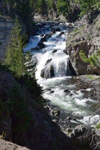 yellowstone, waterfall, road trip, firehole canyon