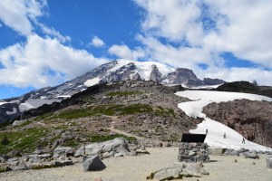 mount rainier, panorama point, skyline trail, ice, snow, clouds, hikes for kids