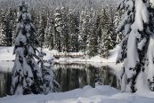 gold creek, snowshoe, winter hiking,