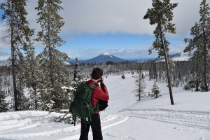 snowshoeing, hoodoo, north loop trail, central oregon, winter,