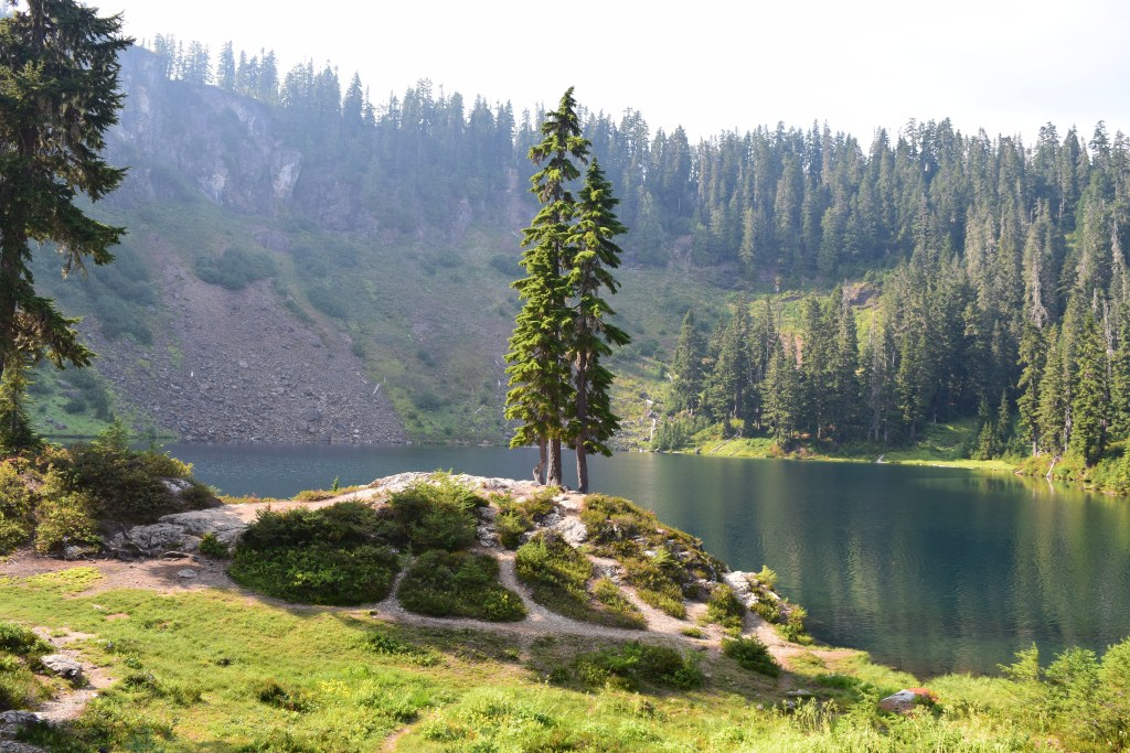Blue lake, best hikes for kids, summer, hiking, mt baker