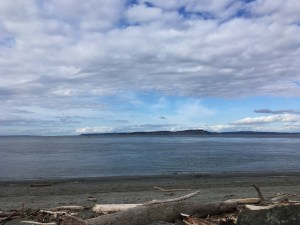 point no point county park, puget sound, kitsap peninsula, clouds, sandy beach