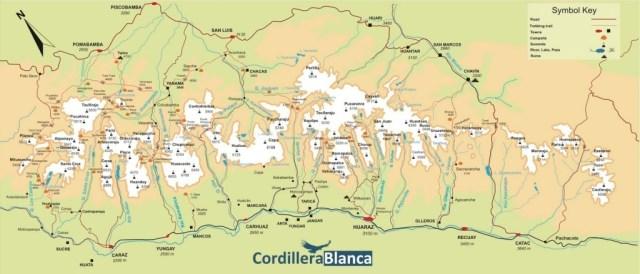 Cordillera Blanca Overview Map