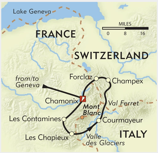 Mont Blanc France Map.A Quick Dirty Guide To The Tour Du Mont Blanc The Hiking Life