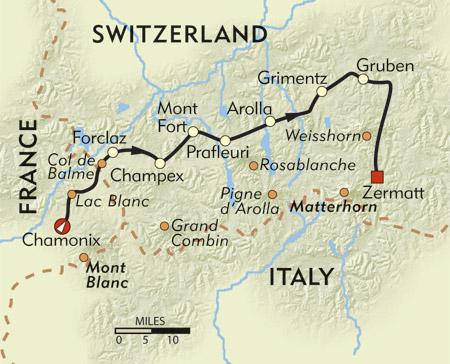 Mont Blanc France Map.Chamonix To Zermatt The Walker S Haute Route The Hiking Life