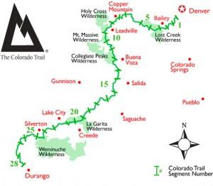 Colorado-Trail-Section-Map-Denver-to-Durango