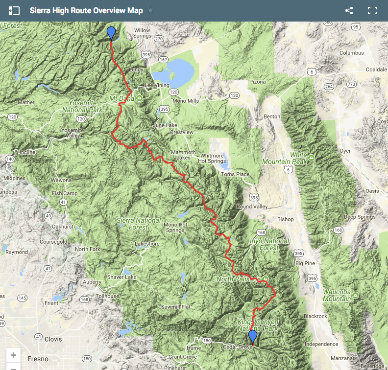 A Quick & Dirty Guide to the Sierra High Route | The Hiking Life