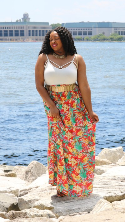 flower power skirt and top
