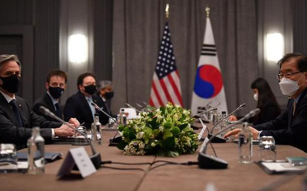 Blinken presents new North Korea approach as G7 meets in person