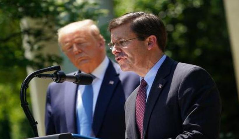 Donald Trump says he has fired Defense Secretary Mark Esper