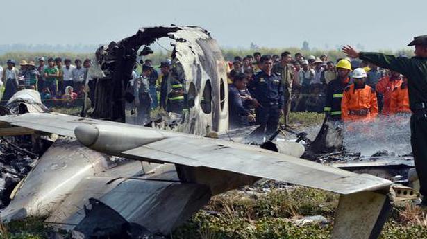 Military plane crashes in Myanmar, killing 12 - Divya Bharat 🇮🇳