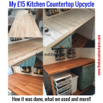 My £15 Butcher Block Countertop – Upcycle 2