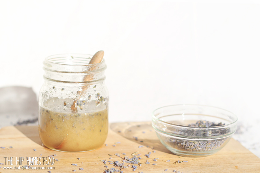 Lavender Infused Honey Recipe - The Hip Homestead
